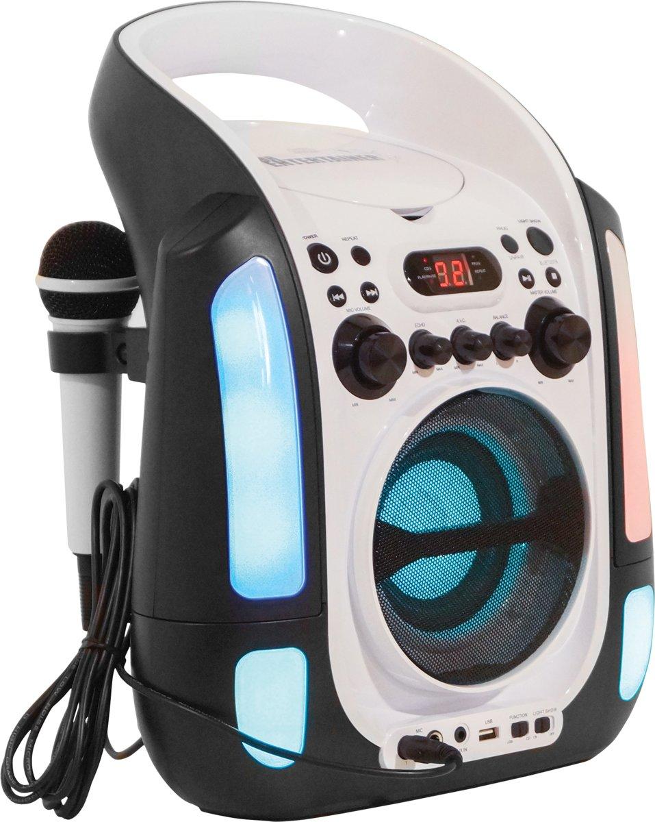 Mr Entertainer KAR125 Bluetooth Karaoke Machine met Lichtshow en CDG Party Hits