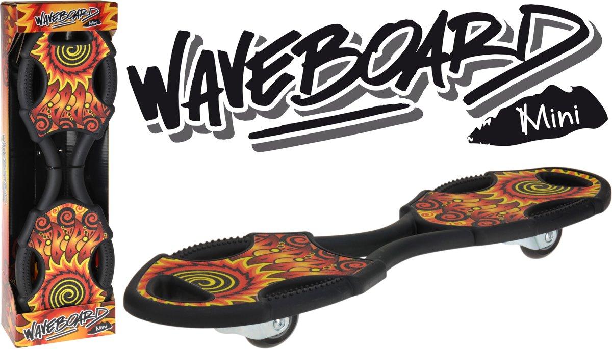 XQ Max Waveboard - Kinderen - Zwart/Rood/Geel kopen
