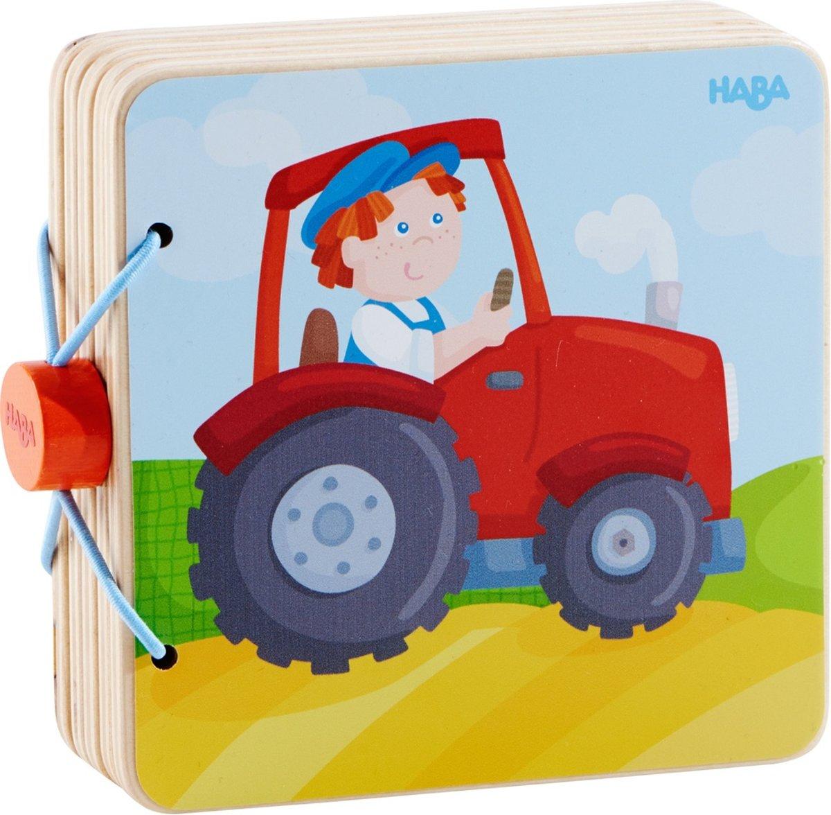 Haba Babyboek Hout Tractoravonturen 14 Cm kopen