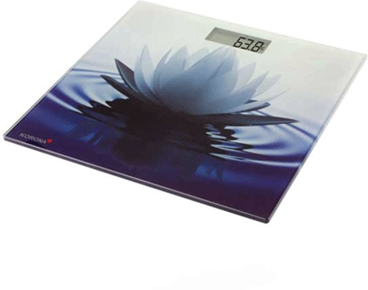 Korona Lily elektronische weegschaal met waterlelie opdruk