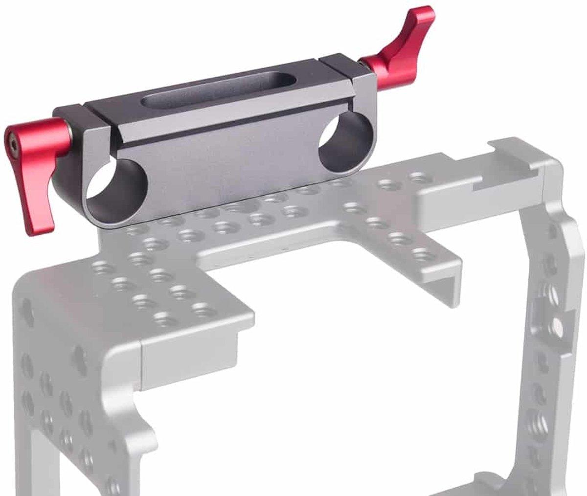 WARAXE 1501 bevestigingsbeugel voor dubbele railblokconnector voor railbevestigingssysteem van 15 mm (grijs) kopen