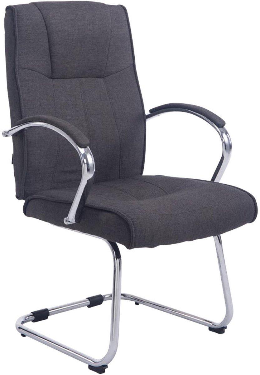 Clp Bezoekersstoel BASEL V2 conferentiestoel, vergaderstoel - chromen cantilever met armleuning, stof - donkergrijs kopen