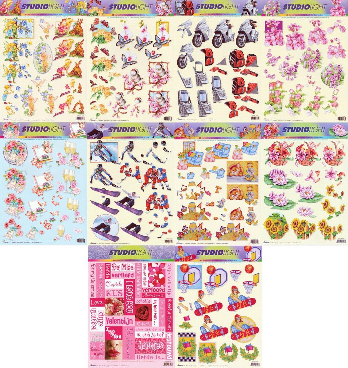 10x 3DA4 Knipvellen - Voor elk wat wils - Maak prachtige kaarten en scrapbook kopen