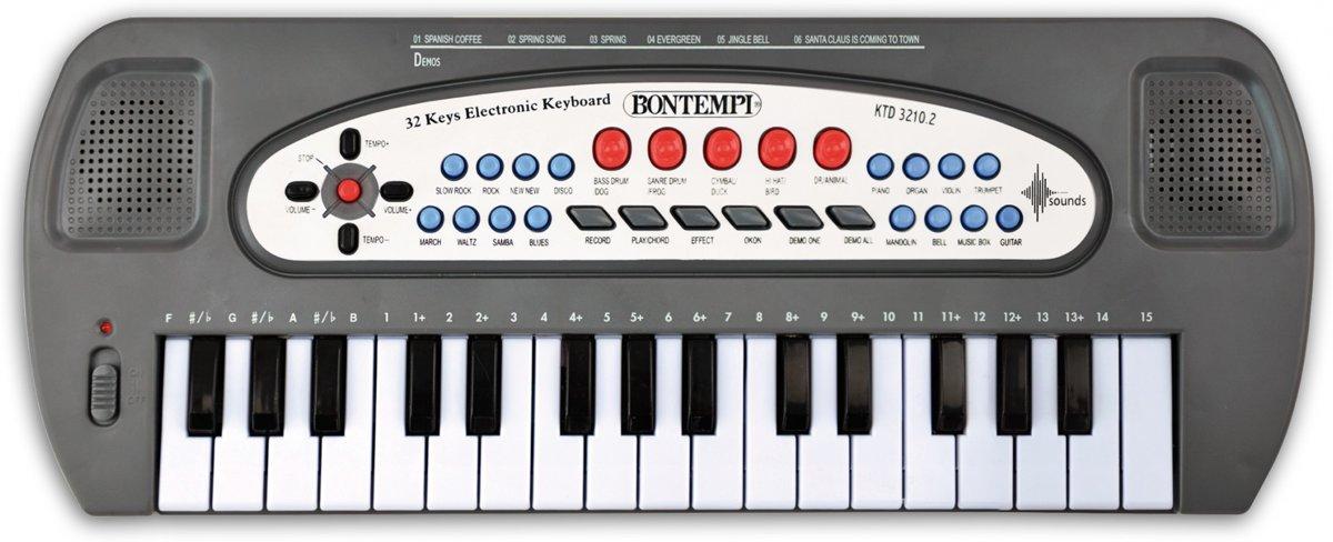 Bontempi Elektronisch Keyboard 32 Mini Toetsen Grijs 40 Cm kopen