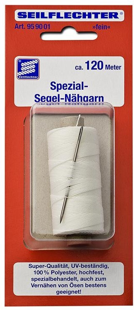 Zeil naaigaren, fijn met naald, 120m in blister