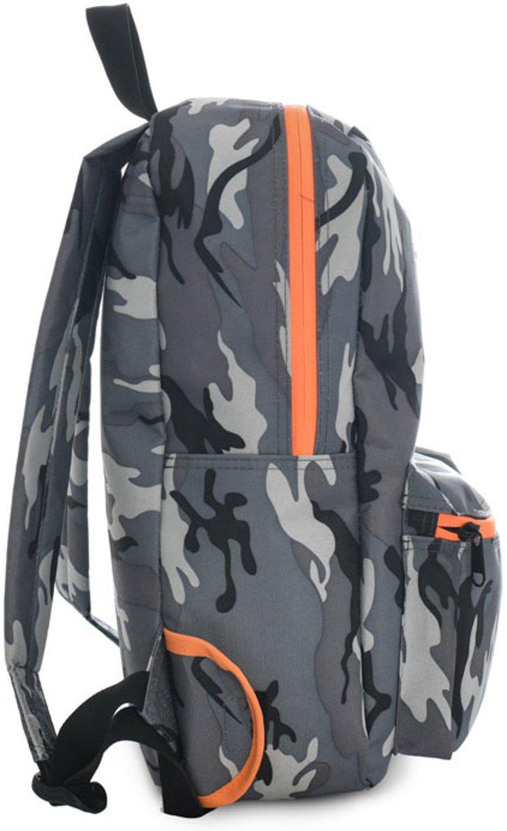 764304d9d8f bol.com | Brabo SporttasKinderen - grijs/donker grijs/oranje