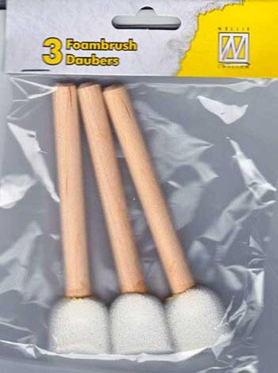 3 x foambrush sponsstokjes daubers Nellie Snellen kopen