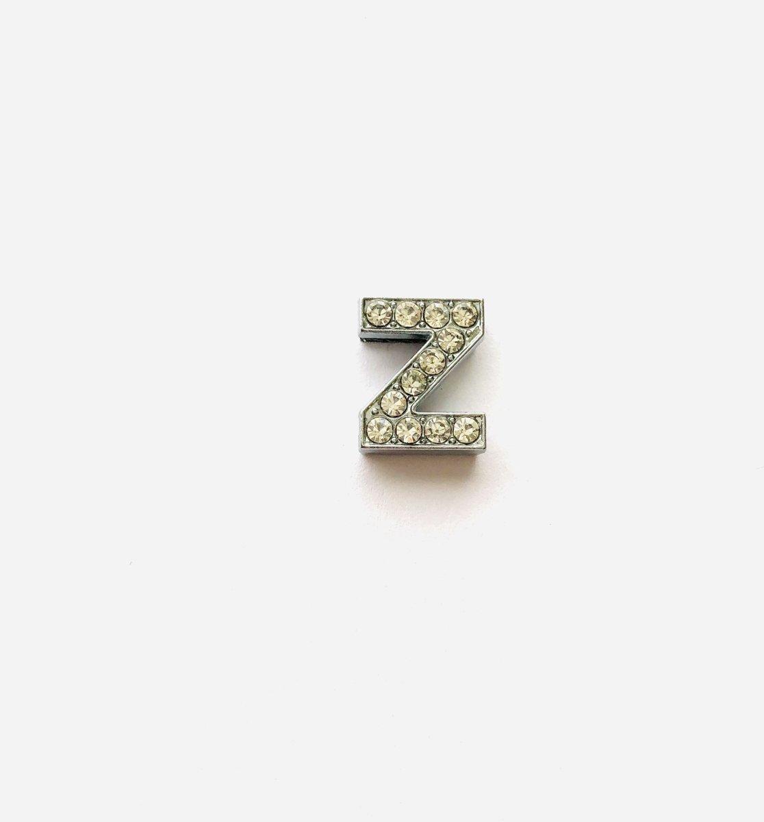 Metalen letter met zirkonia steentjes - Letter Z - Personaliseer zelf kopen