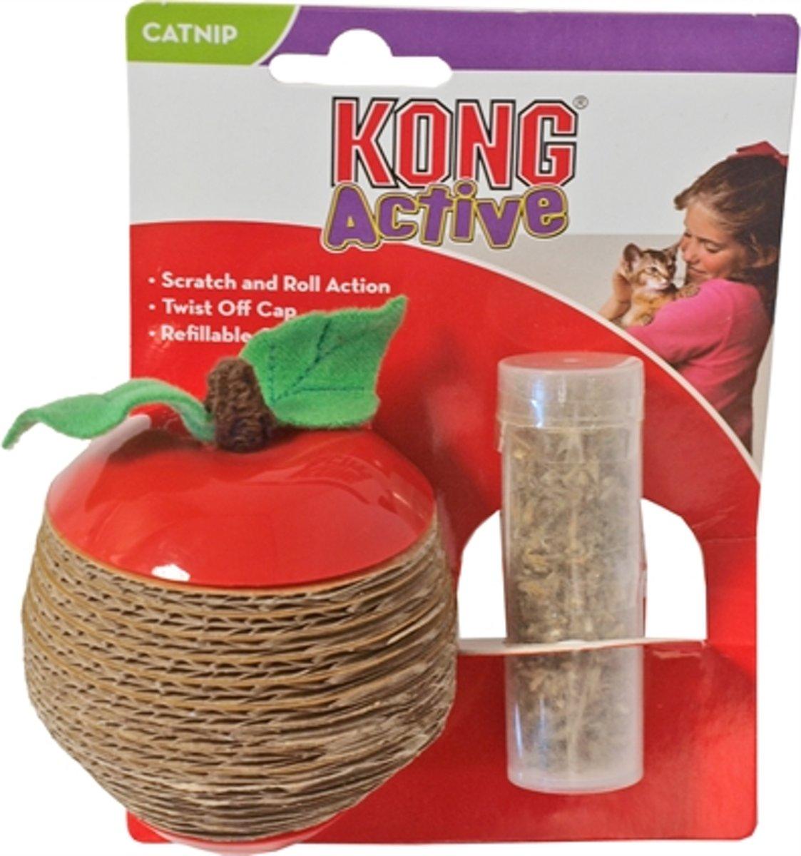Kong Cat Scratch Apple - Kattenkruid - Rood kopen