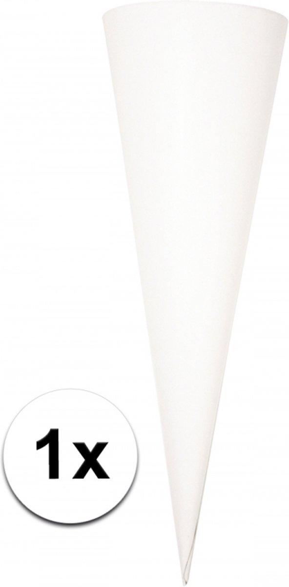 Puntvormige knutsel schoolzak wit 70cm kopen