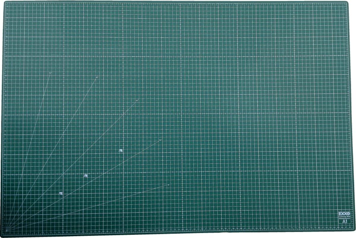 EXXO #10090 - A1 Snijmat - 5-laags zelfhelend - 2-zijdige rasterdruk - 60x90cm - 12 stuks kopen