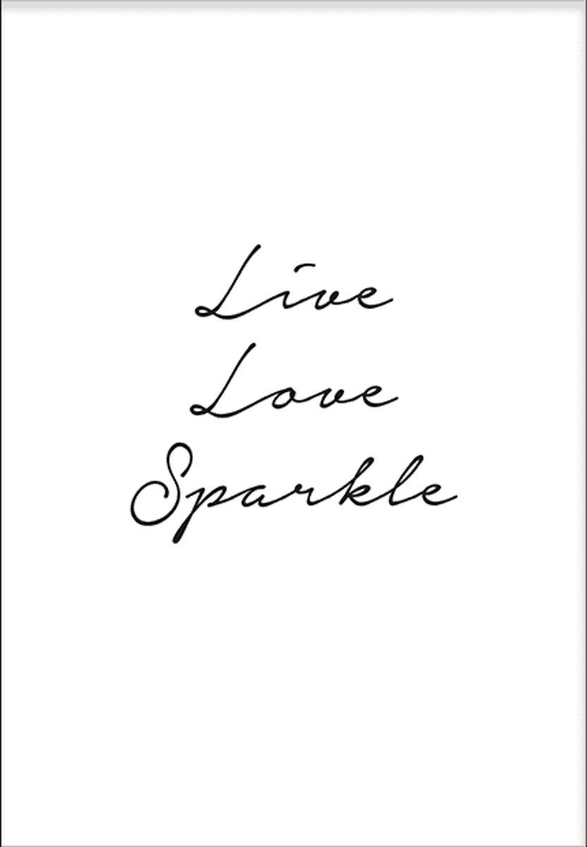 Live Love Sparkle (70x100cm) - Tekst - Poster - Print - Wallified kopen