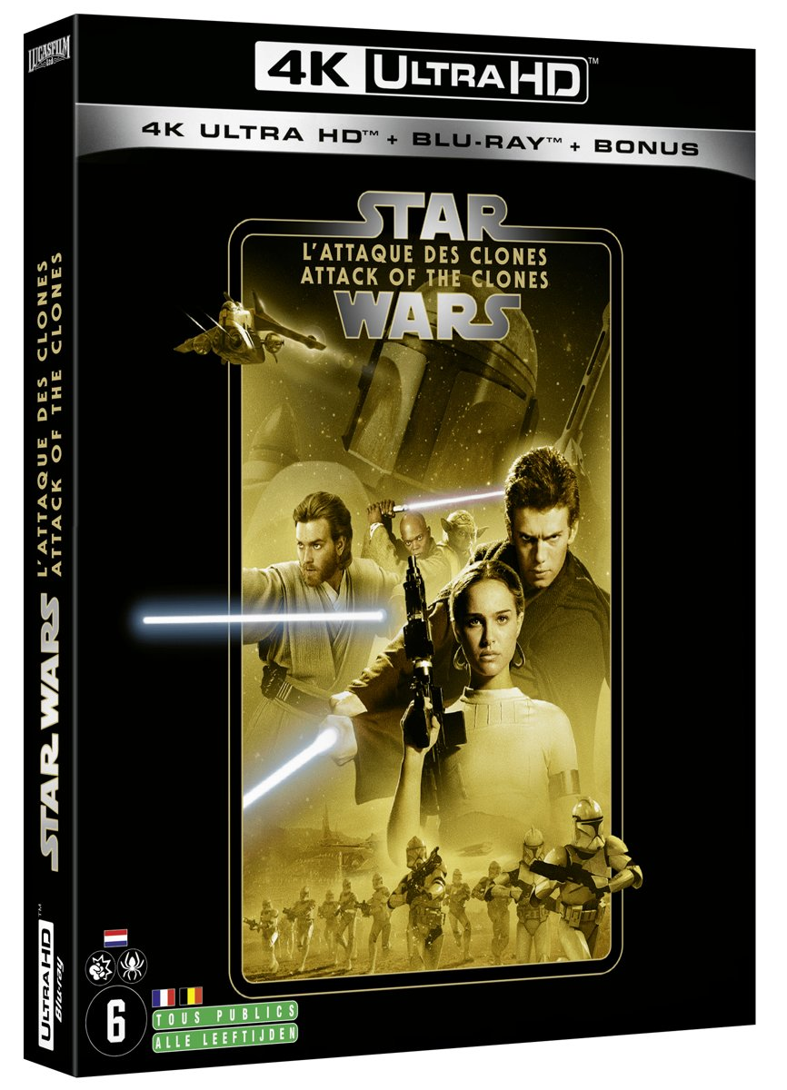 Star Wars Episode II: Attack of the Clones (4K Ultra HD Blu-ray) (Import zonder NL)-