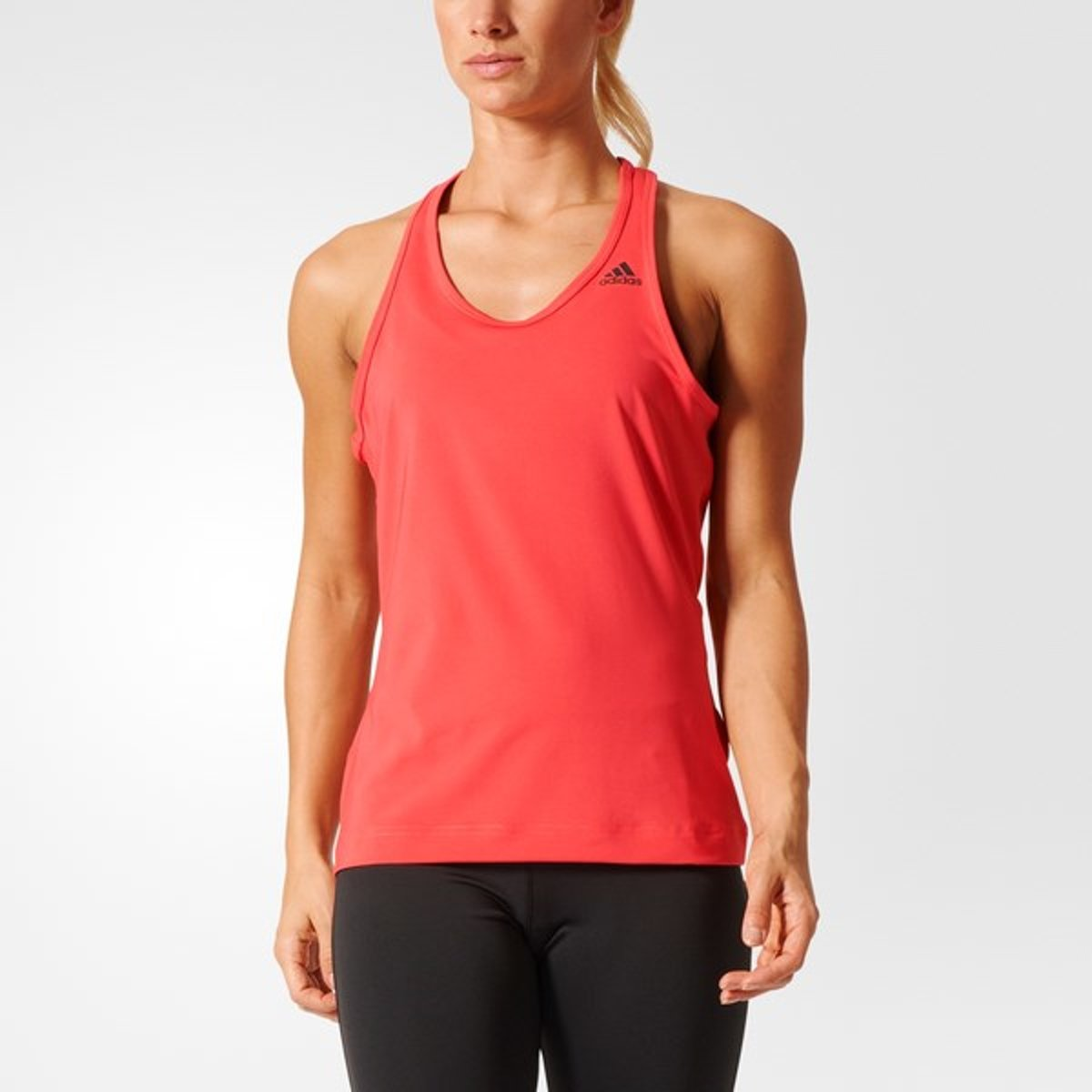 adidas Design to Move Tank Solid - Sportshirt - Dames - XS - Core Pink S17 thumbnail