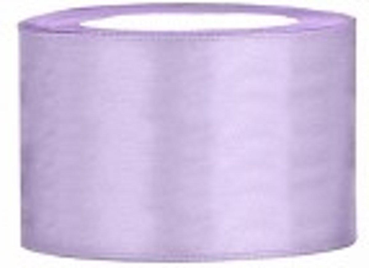 Licht lila Lint, Satijn Lint 50 mm ( 5 cm.) Kwaliteit EZ. 25 Meter per Rol kopen