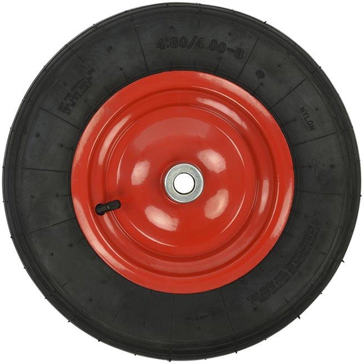 Proplus Kruiwagenwiel Rubber/staal 16 Inch Zwart/rood kopen