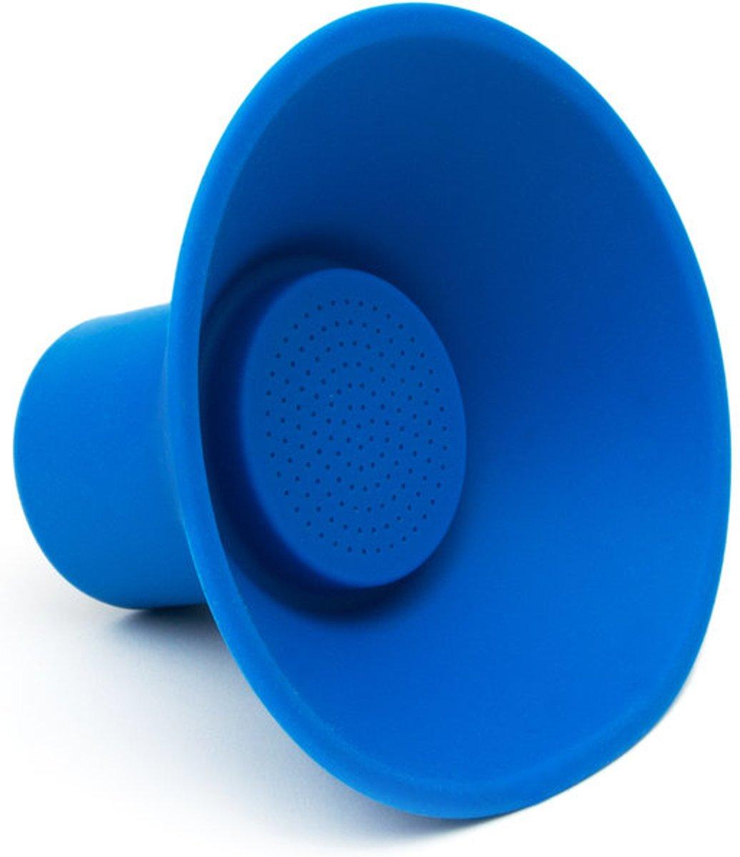 Portable blue icon speaker - Draadloze bluetooth speaker  - BLAUW kopen