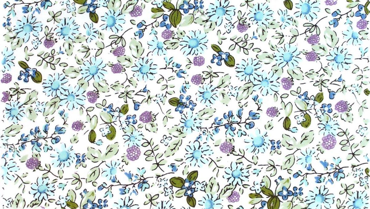 Tissu de Marie - Stof 100% katoen - bloem klein. 2M X 1.45M. kopen