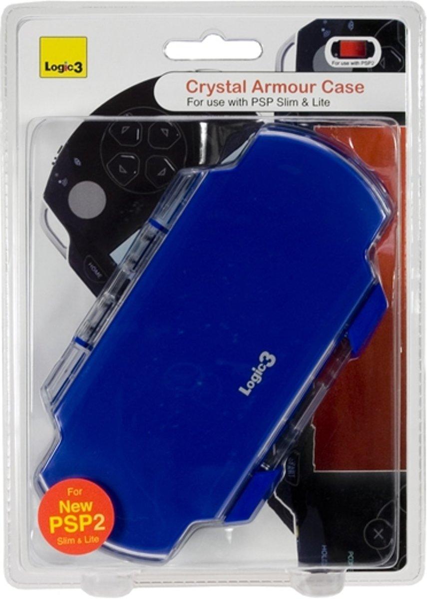 Blue Crystal Armour Case Stand Psp Slim Lite Logic3 Cystal Ps Vita Games