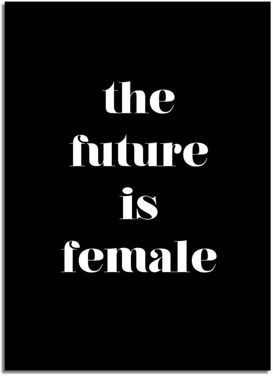 Tekst poster The future is female Designclaud - Zwart - B2 poster kopen