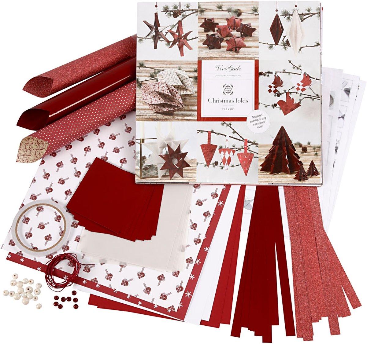 Vlecht en vouw set, wit, rood, 1set [HOB-97777] kopen