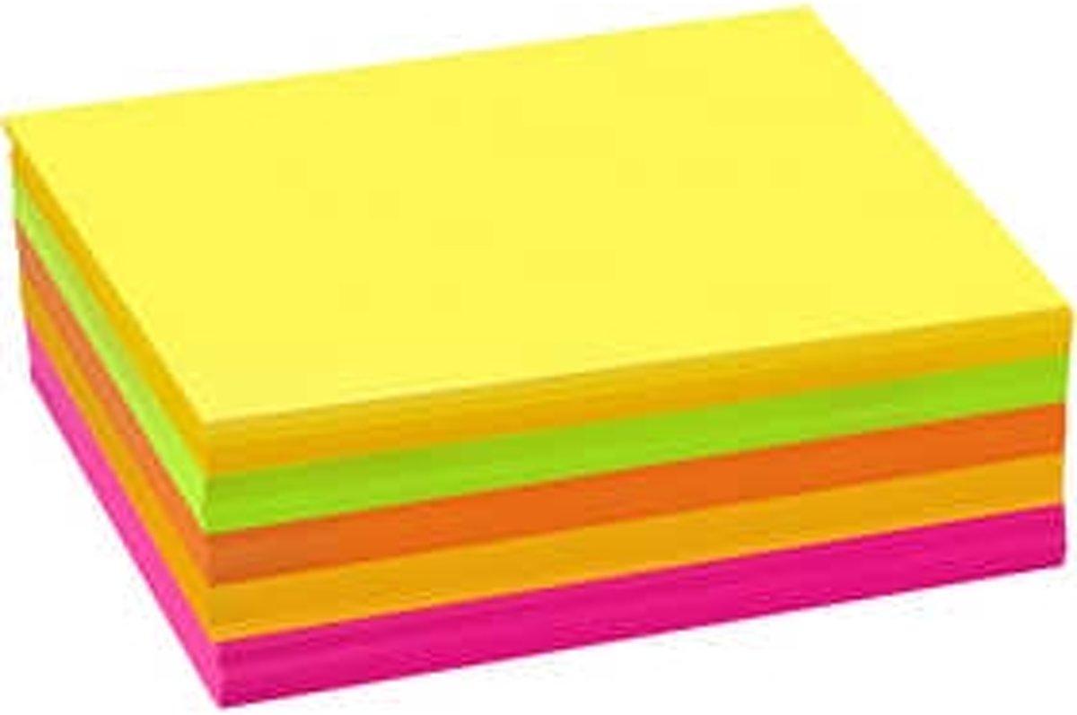 Neon karton, A6 105x148 mm,  180 gr, diverse kleuren, 300div vellen [HOB-21456] kopen