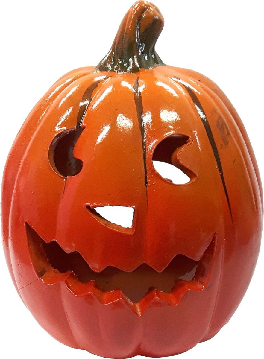 Waxinelichthouder Halloween.Halloween Theelichthouder Pompoen