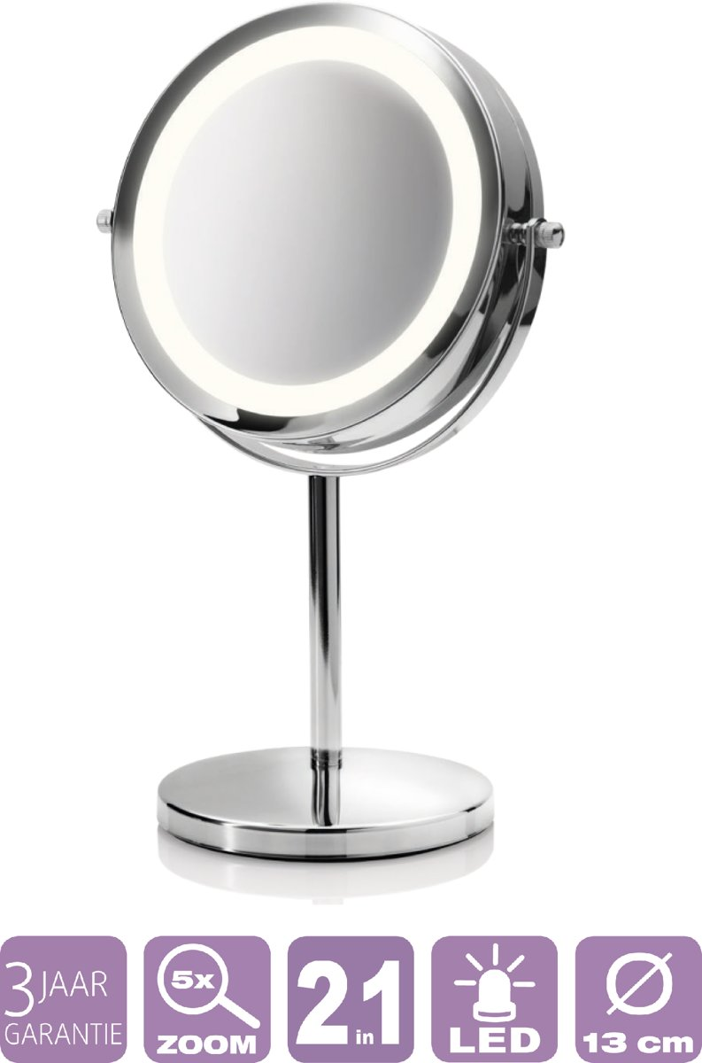 Cosmeticaspiegel Met Verlichting.Medisana Cm 840 Make Up Spiegel