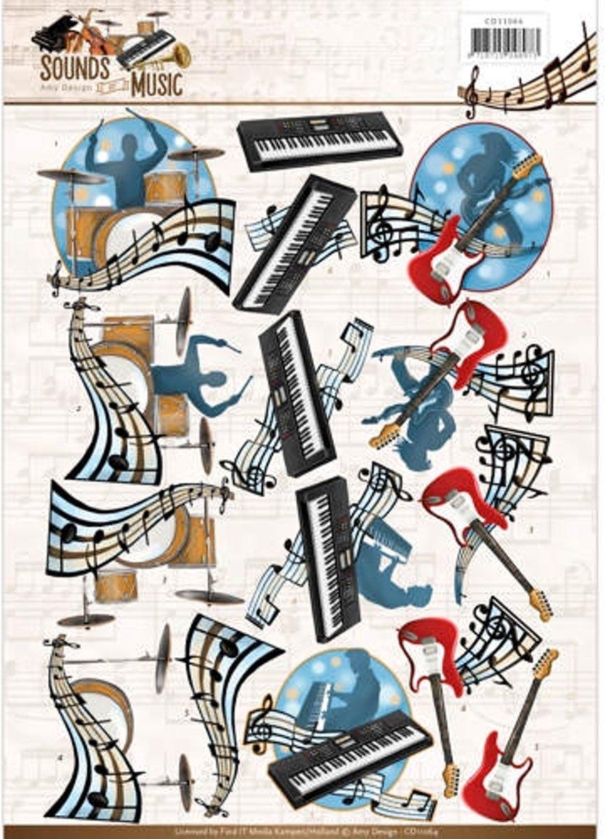 3D Knipvel - Amy Design - Sounds Of Music - Pop kopen