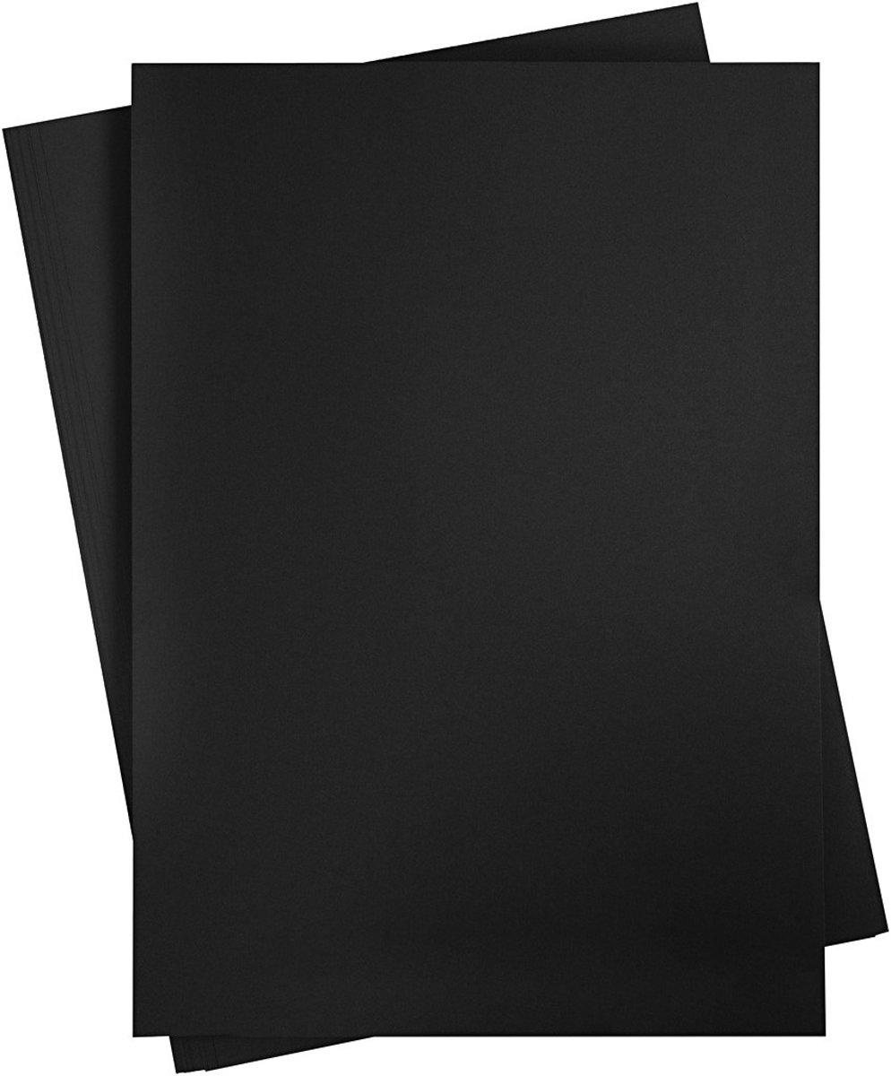 Reclame Karton, vel 497x697 mm,  270-300 gr, koolzwart, 10vellen [HOB-22927] kopen
