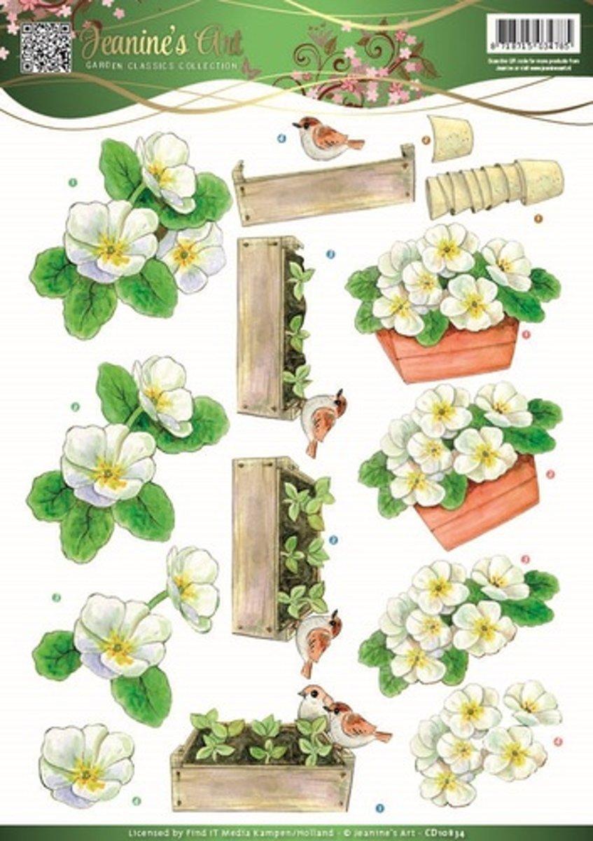3D Knipvel - Jeanines Art -Garden Classics - Witte Bloemen kopen