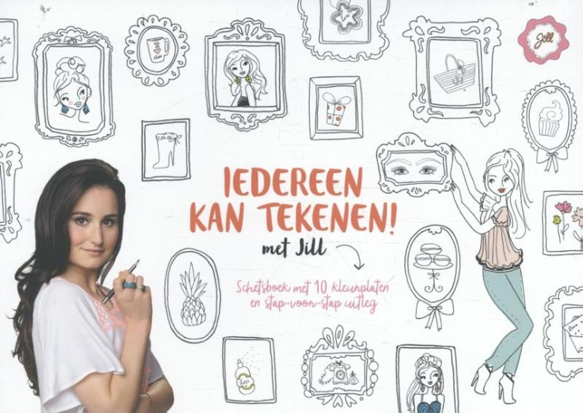 Bol Com Jill Iedereen Kan Tekenen Met Jill Schetsboek Jill