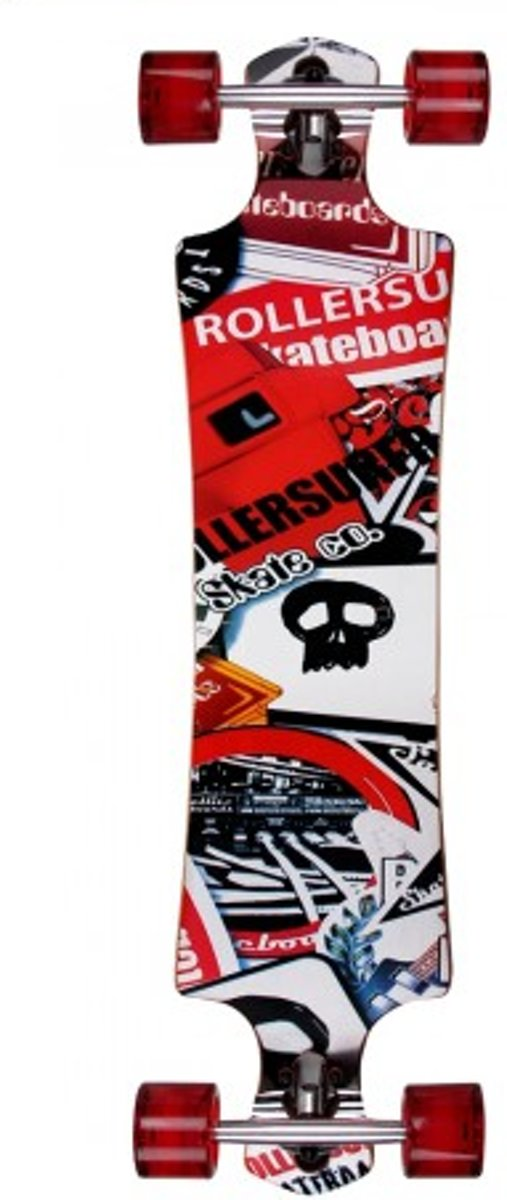Longboard Skateboard Atlantic Rift Skull Surfer Drop kopen