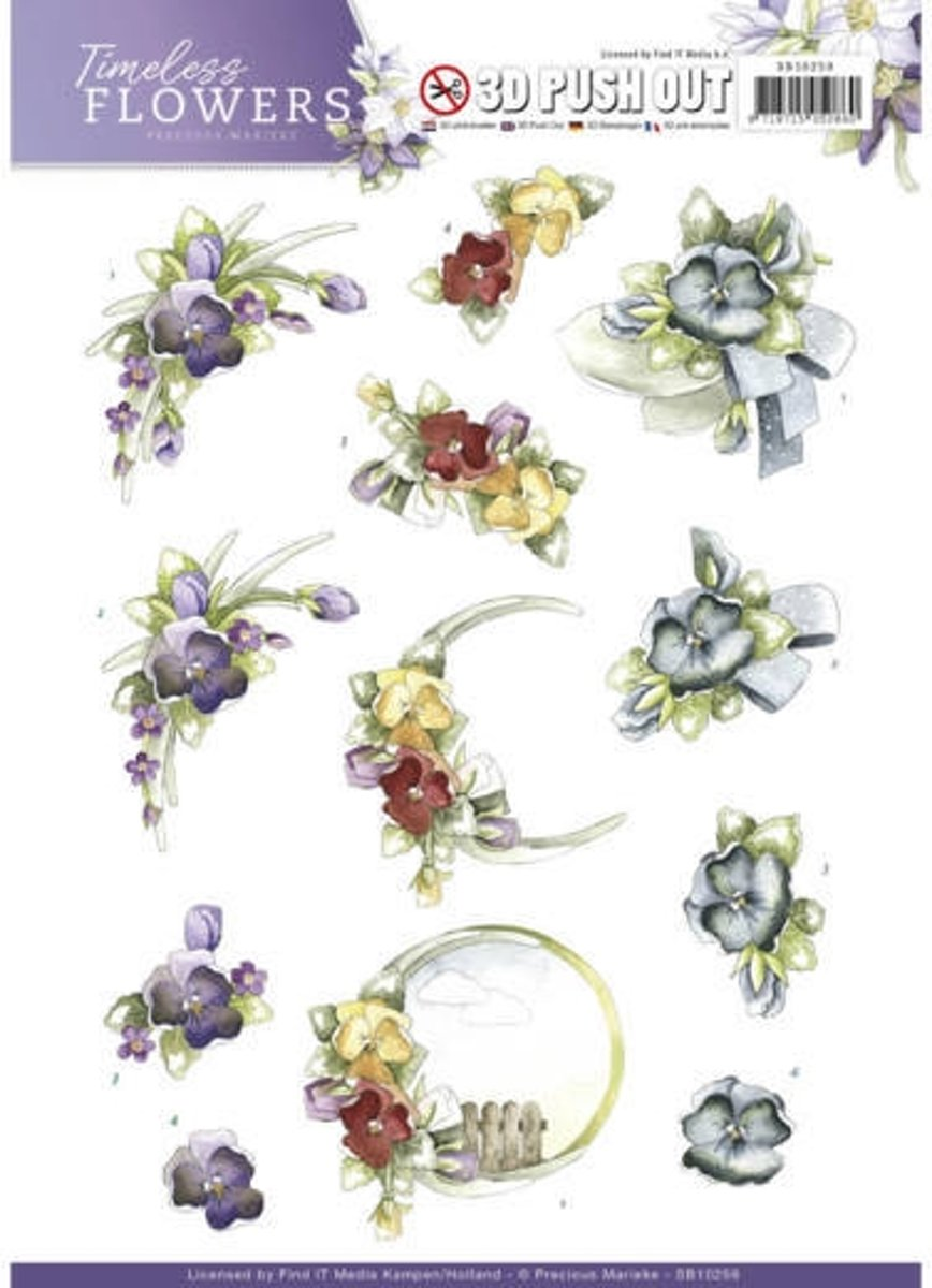 Uitdrukvel  - Precious Marieke - Timeless Flowers - Viooltjes kopen