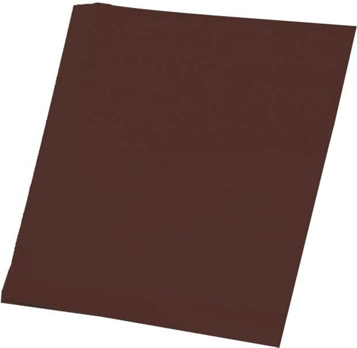 Donkerbruin karton vel 50 x 70 cm kopen