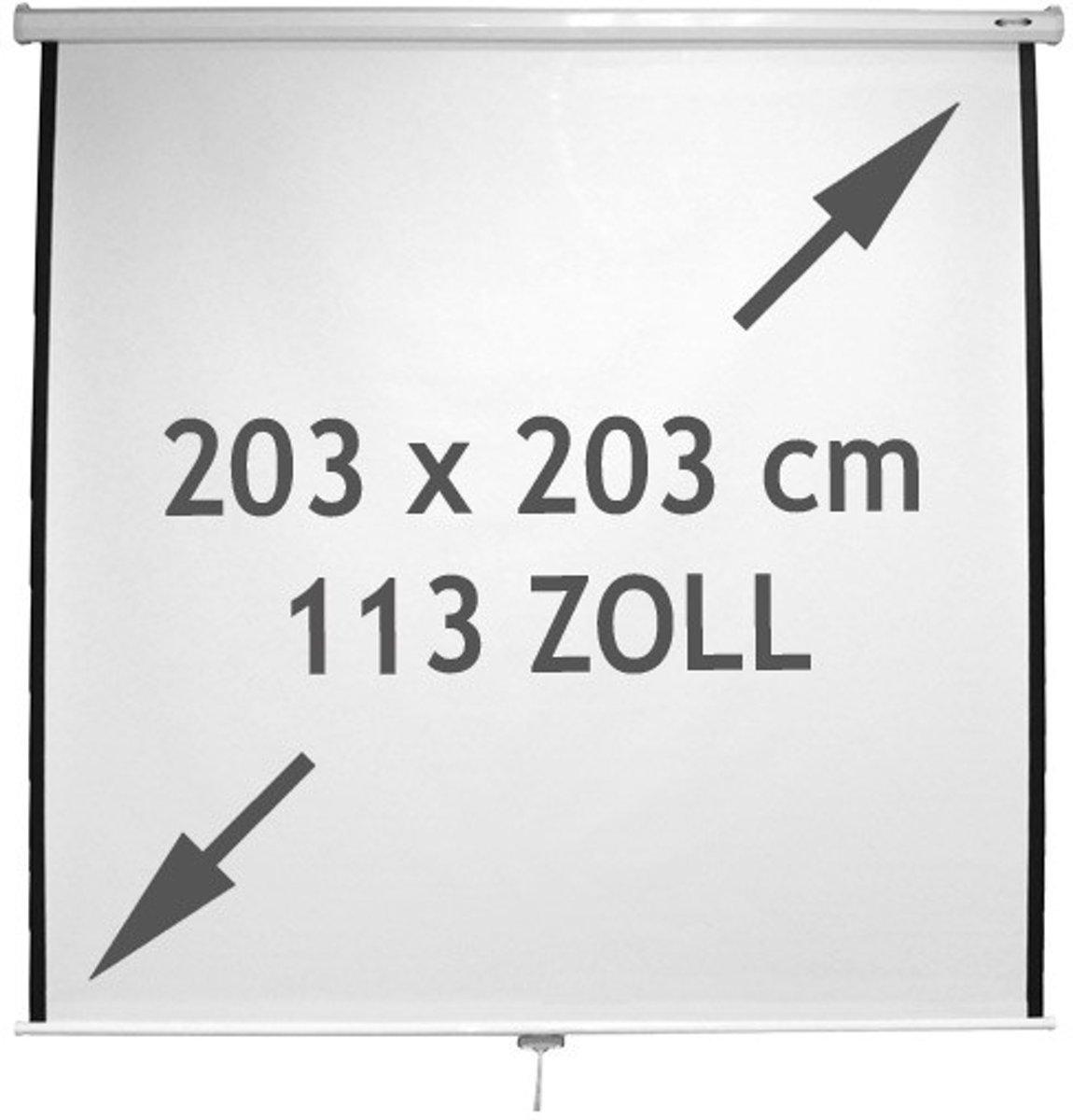 Oprolbaar - Projectiescherm - 203 x 203 cm kopen