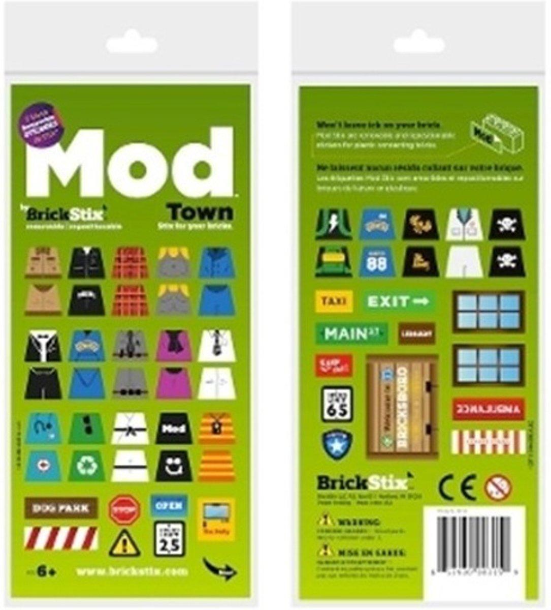 BrickStix 999158 Stad - herbruikbare stickers voor bouwstenen