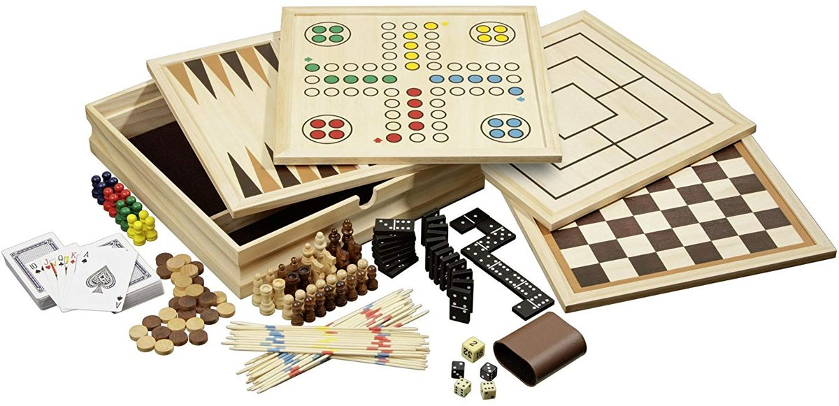 Philos houten spellen set Compendium 10 - medium