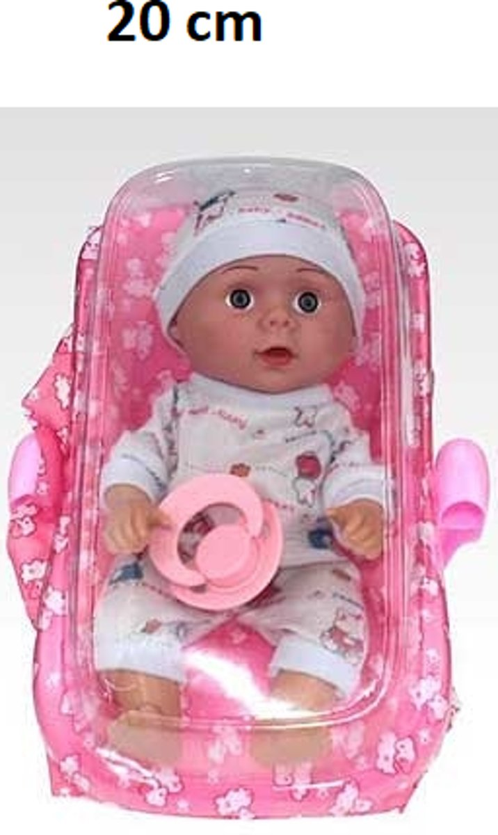 Babyspeelgoed Met Accessoires Maxi Cosi  Voor Kinderen Peuter Kleuter 20 CM | Interactieve Poppen Meisje Babyborn Roze Newborn