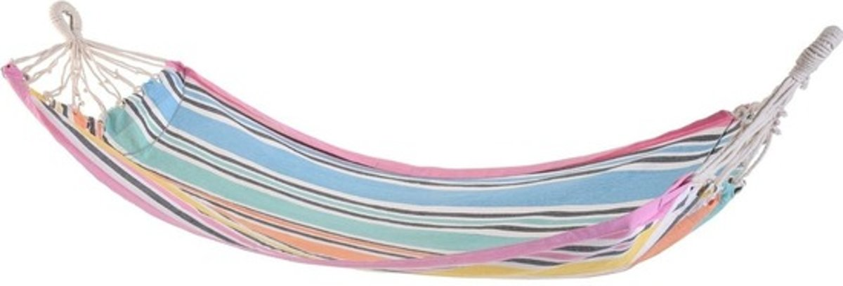 Hangmat roze rand 255 cm