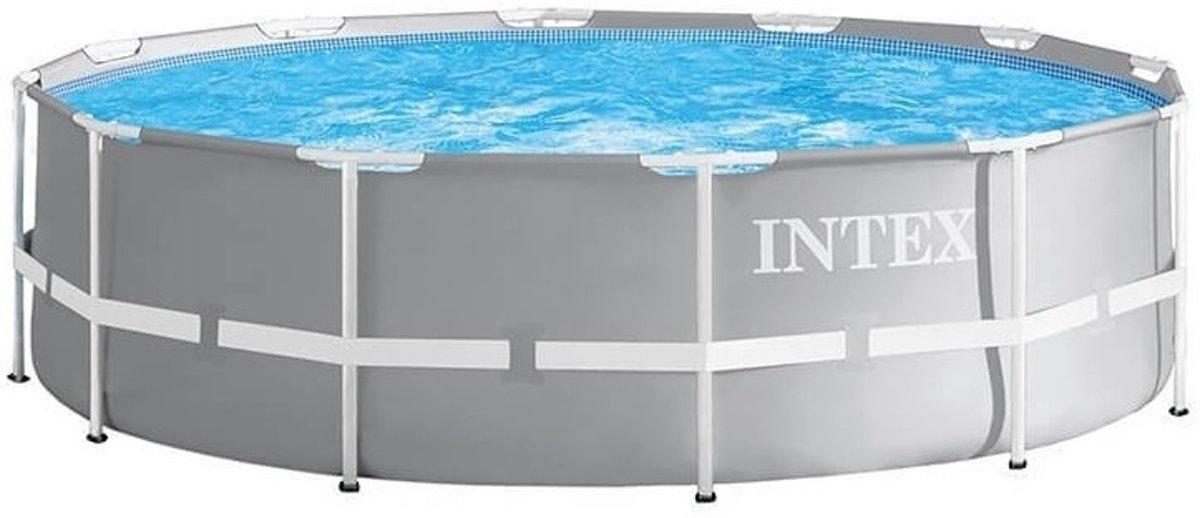 Intex Opzetzwembad Met Accessoires Prism Frame Ø427 X 107 Cm Grijs