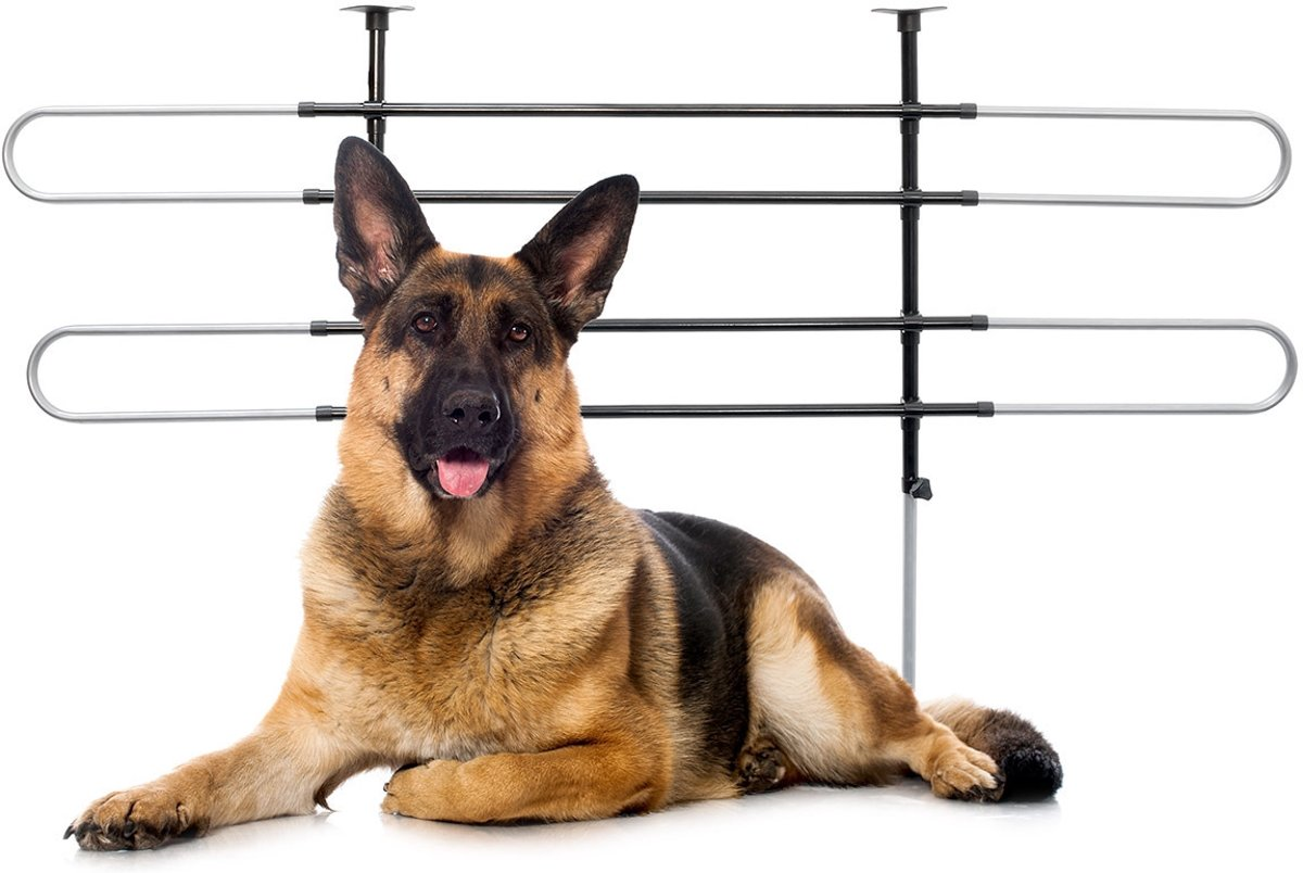 relaxdays Hondenrek auto universeel - Sterk hondenrooster - Stalen scheidingsrooster hond. kopen