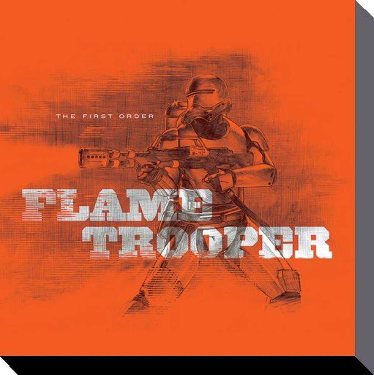 Collector Print STAR WARS - Canvas 40X40 - Episode VII - Flametrooper Orange kopen