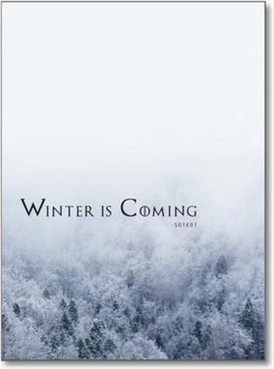 Winter is Coming Poster - Minimalistic Wall Art kopen