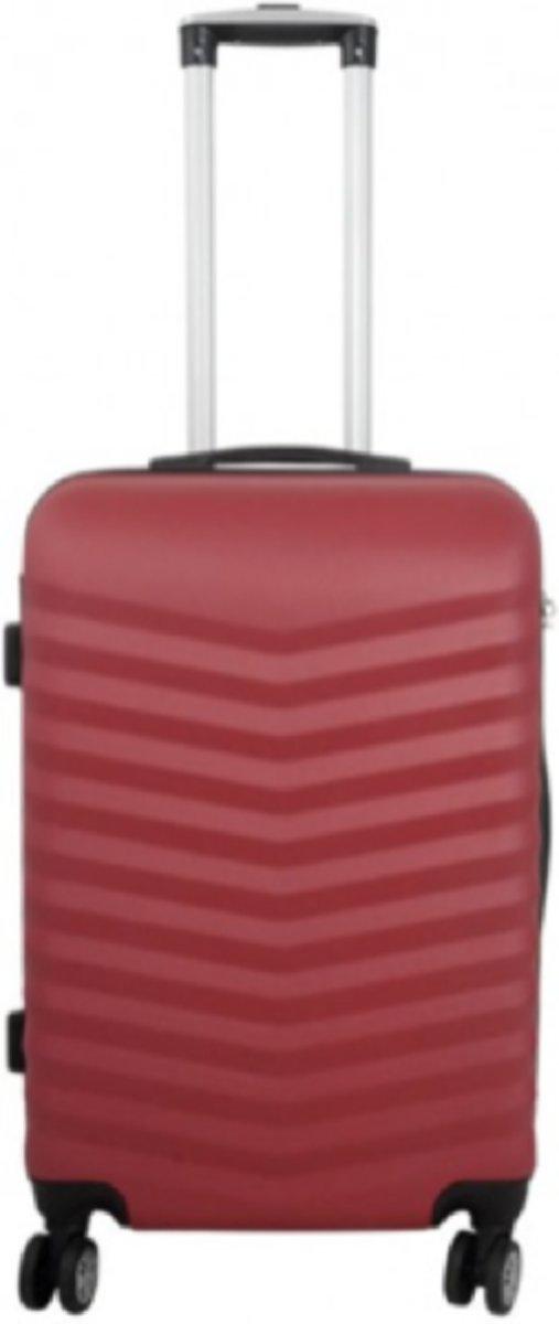 koffer | reiskoffer | valies - Travelsuitcase kleur rood | 56cm kopen