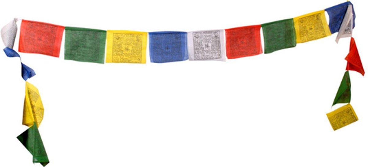 bol.com | Gebedsvlaggenkoord Tibetaans - 12.5x12.5x120 cm (10 ...