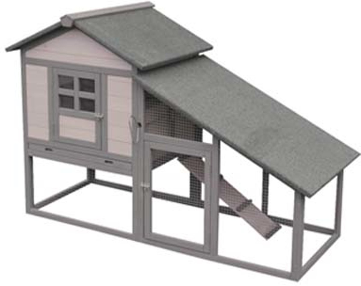 Flamingo konijnenhok Quincy cottage - grijs