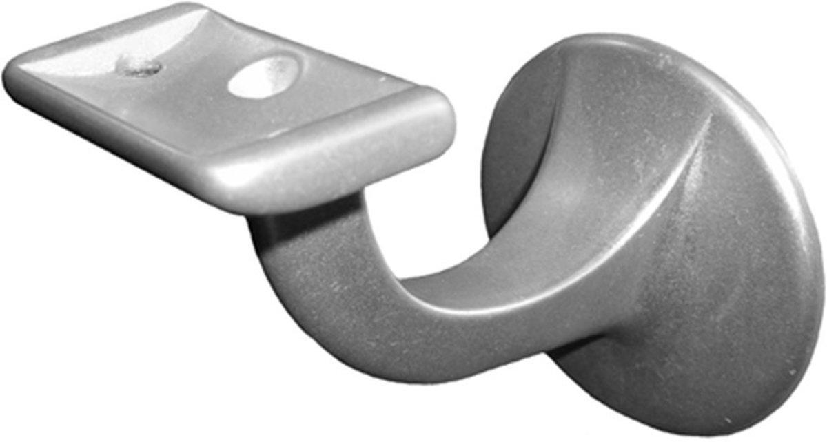 Hermeta leuninghouder vlak - aluminium zilverkleurig - met tapgat M8 - 3503-01 kopen