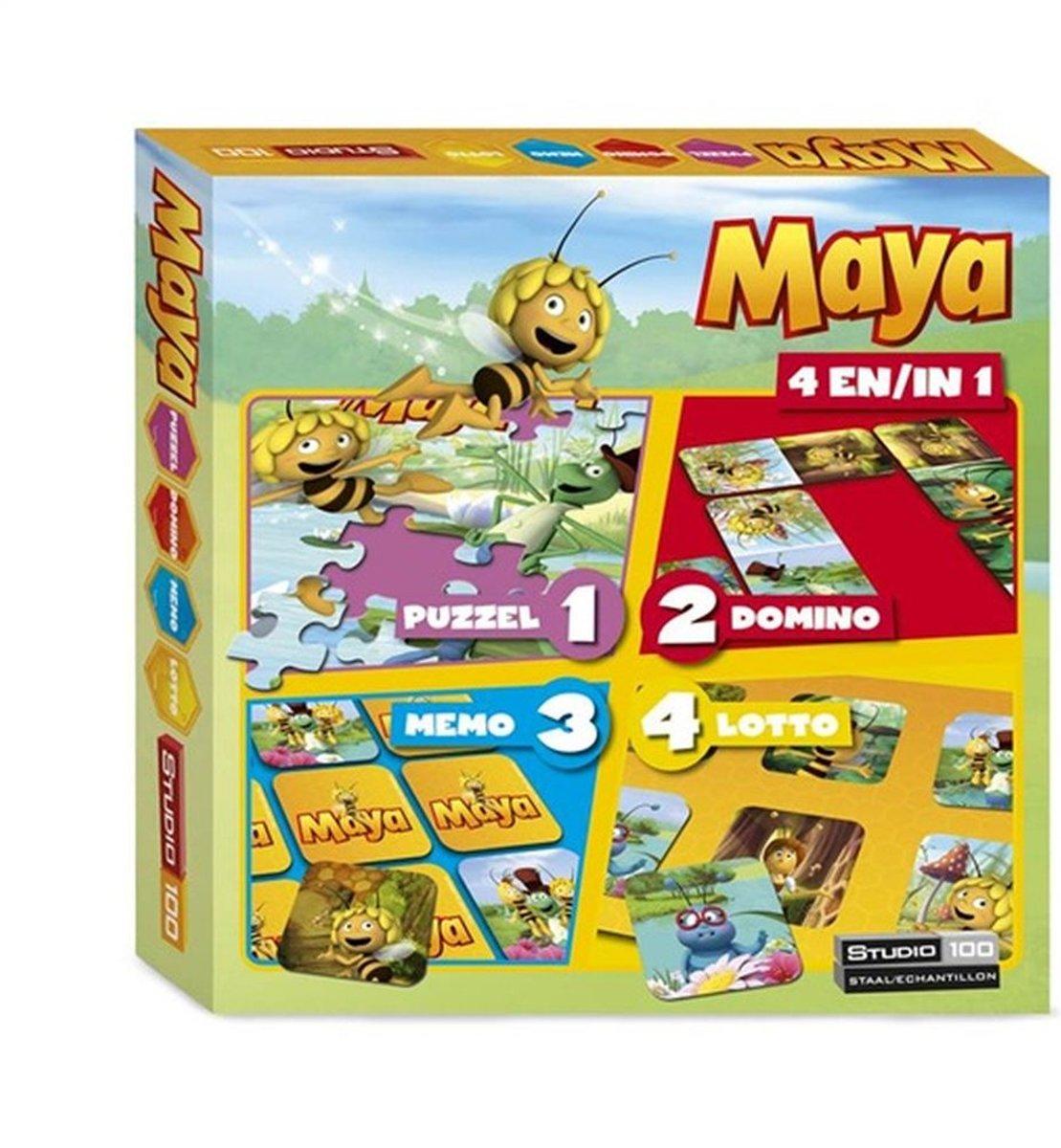 Maya de Bij 4-in-1 Speldoos - Kinderspel