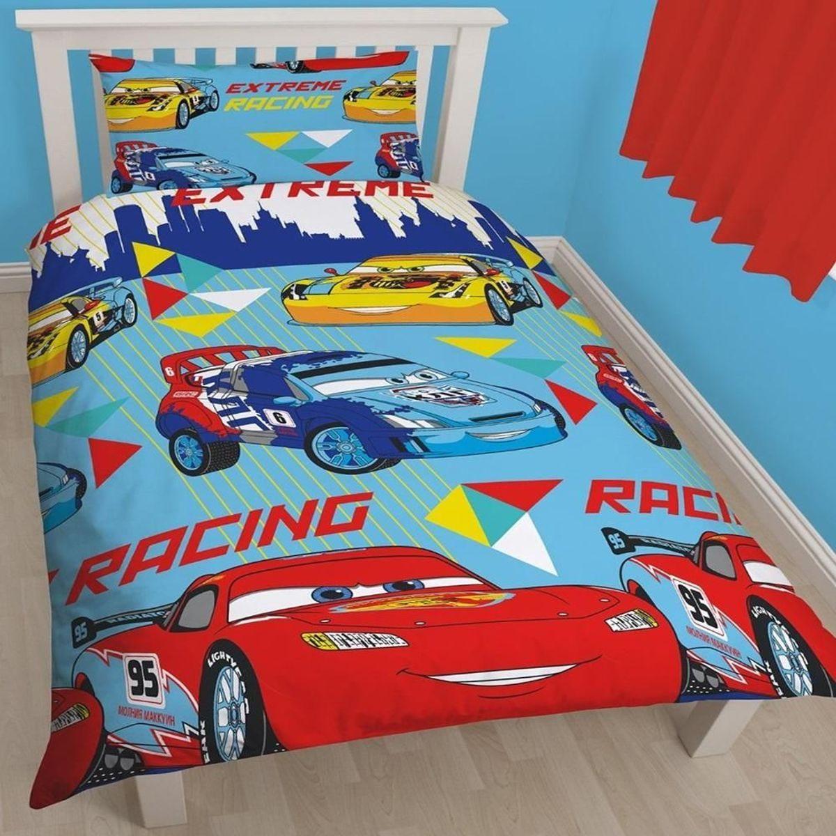 Disney Cars Racing - Dekbedovertrek - Eenpersoons - 135x200 cm - Multi kopen